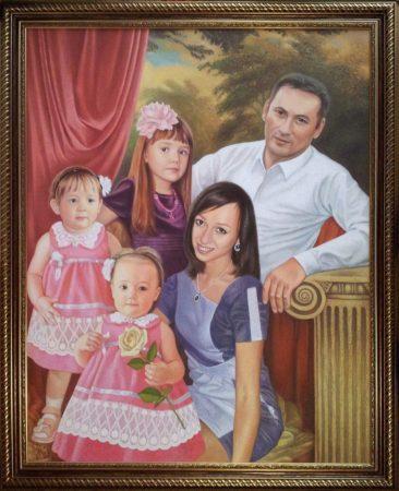 Семейный портрет маслом в Тольятти — правильная традиция…