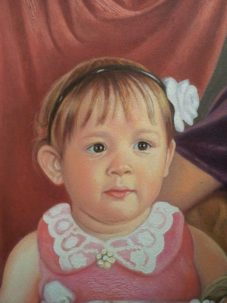 Портрет маслом семейный Тольятти