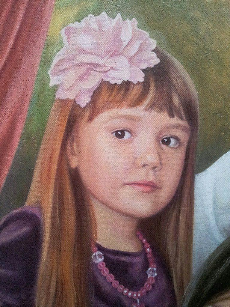 Семейный портрет на холсте Тольятти