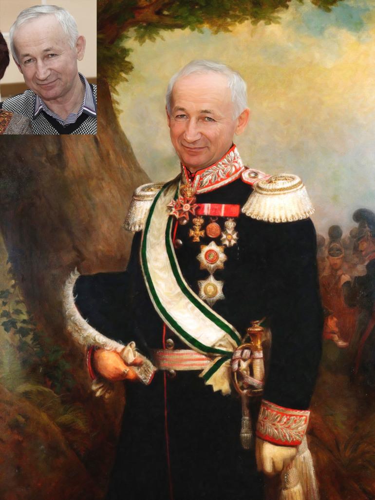 Где заказать исторический портрет по фото на холсте в Тольятти?