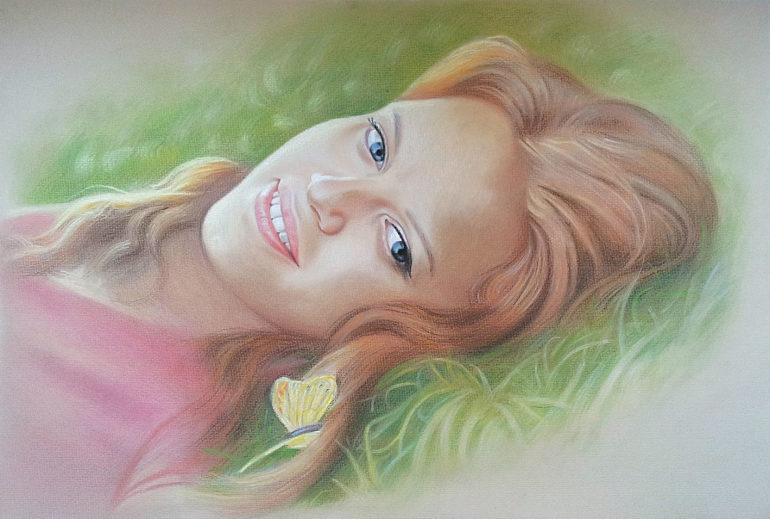 Настоящий портрет пастелью для любимой девушки в Тольятти, просто и со вкусом!