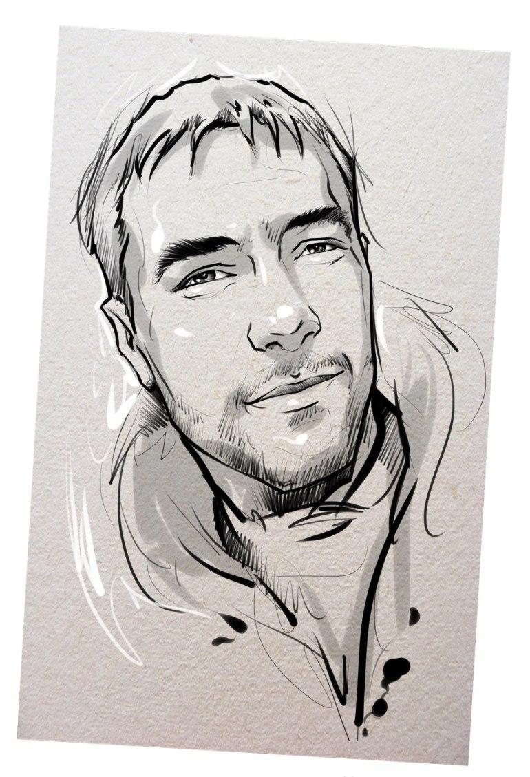 Портрет карандашом любимому мужу в Тольятти…