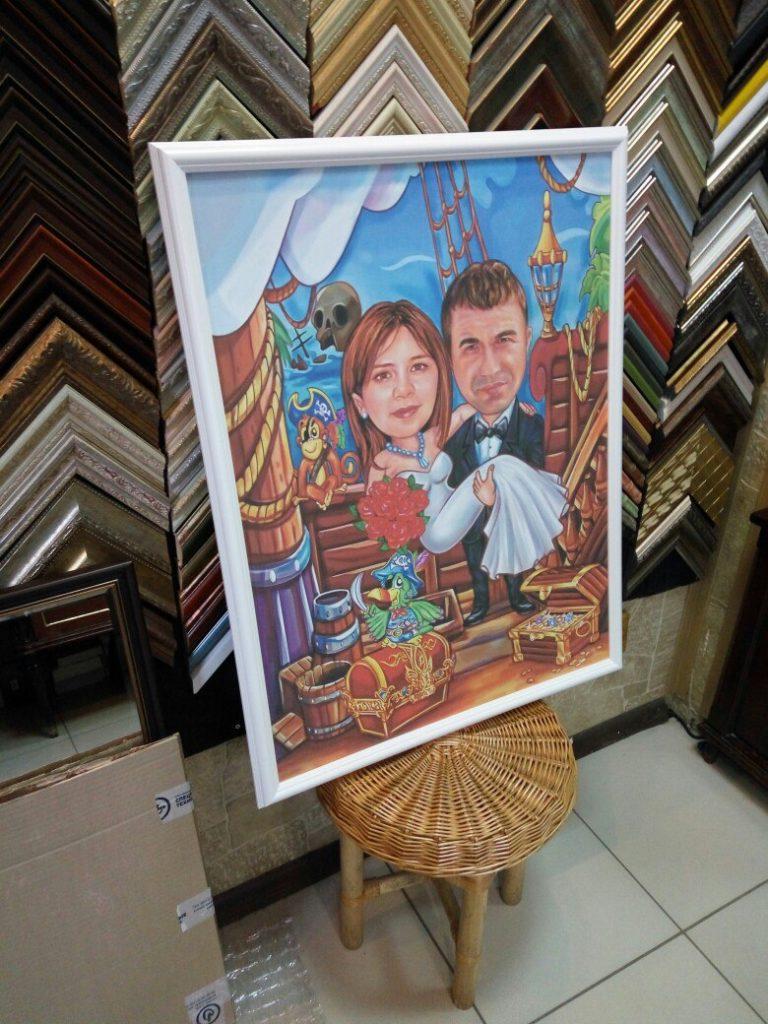 портрет шарж на заказ в Тольятти