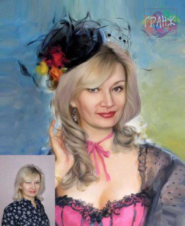 Заказать арт портрет по фото на холсте в Тольятти