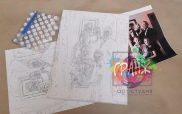 Картина по номерам по фото, портреты на холсте и дереве в Тольятти